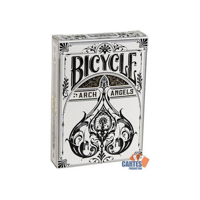 Bicycle Archangels – jeu de 54 cartes toilées plastifiées – format poker – 2 index standards