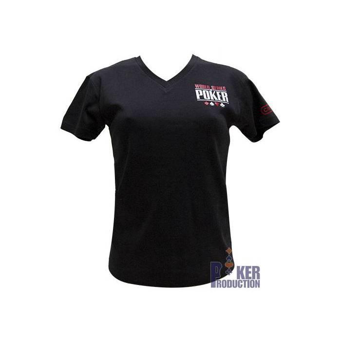 T-shirt noir femme : WSOP Cannes 2012
