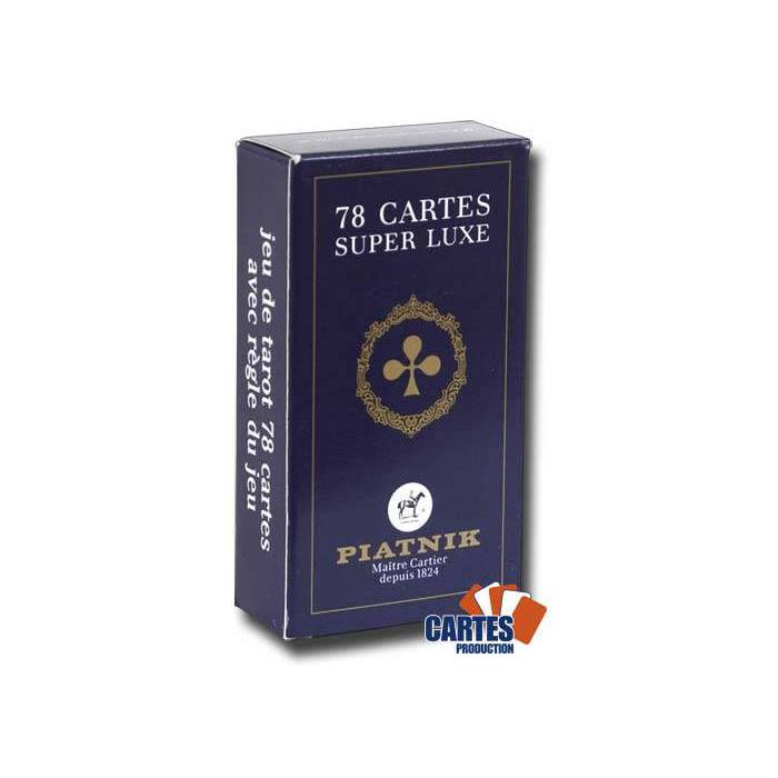 Tarot Super Luxe PIATNIK – jeu de 78 cartes cartonnées plastifiées – 4 index standards