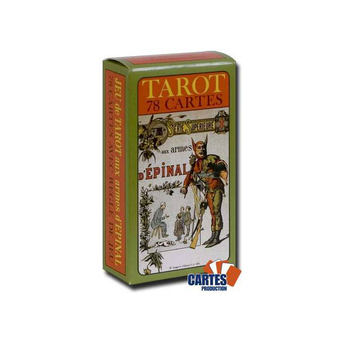 Tarot aux armes d'Épinal – jeu de 78 cartes cartonnées plastifiées – 4 index standards