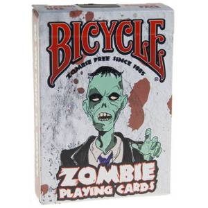 Bicycle Zombie - jeu de 54 cartes toilées plastifiées – format poker – 2 index standards