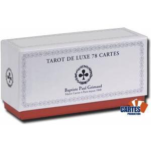 Tarot Concorde – jeu de 78 cartes cartonnées plastifiées – coins dorées – coffret luxe – 4 index standards