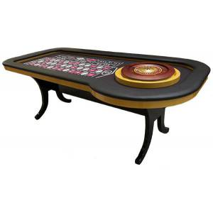 Table de Roulette de Casino – Or/Noir