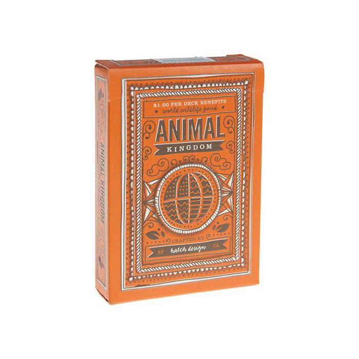 Animal Kingdom- jeu de 54 cartes toilées plastifiées – format poker – 2 index standards - Theory 11