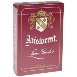 Aristocrat - jeu de 54 cartes toilées plastifiées – format poker – 2 index standards - Theory 11