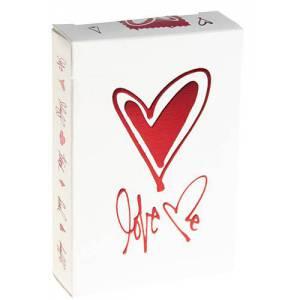Love Me - jeu de 54 cartes toilées plastifiées – format poker – 2 index standards - Theory 11