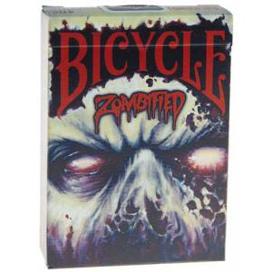 Bicycle Zombified – Jeu de 54 cartes toilées plastifiées – format poker – 2 index standards
