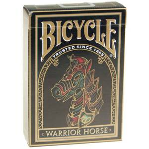 Bicycle Warrior Horse – Jeu de 54 cartes toilées plastifiées – format poker – 2 index standards