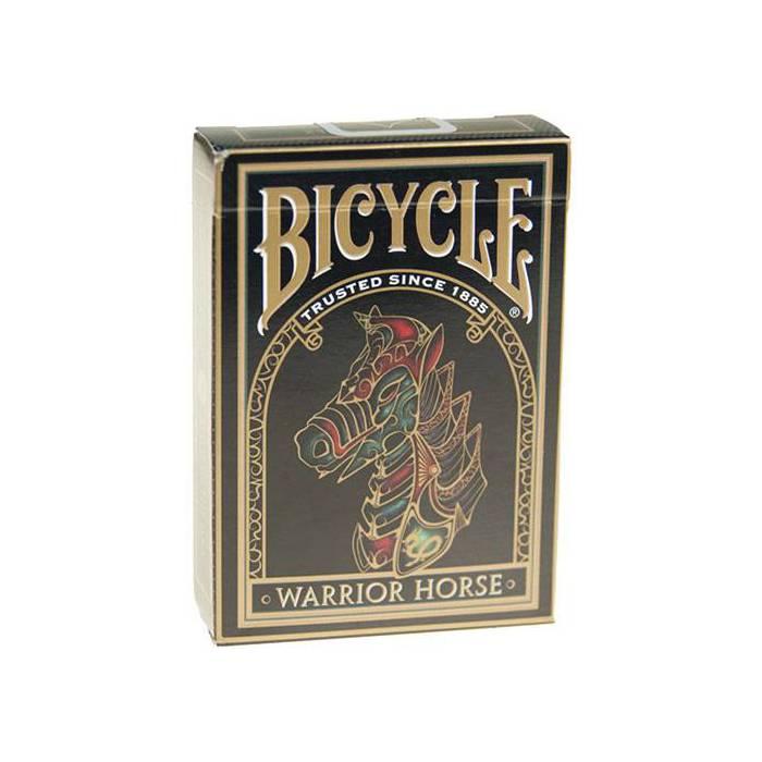 Bicycle Warrior Horse – Jeu de 54 cartes toilées plastifiées – format poker – 2 index standards