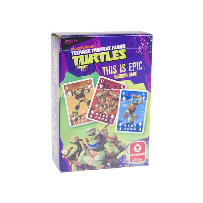 Jeu de mission Jeu de cartes Turtles – Jeu de 54 cartes :