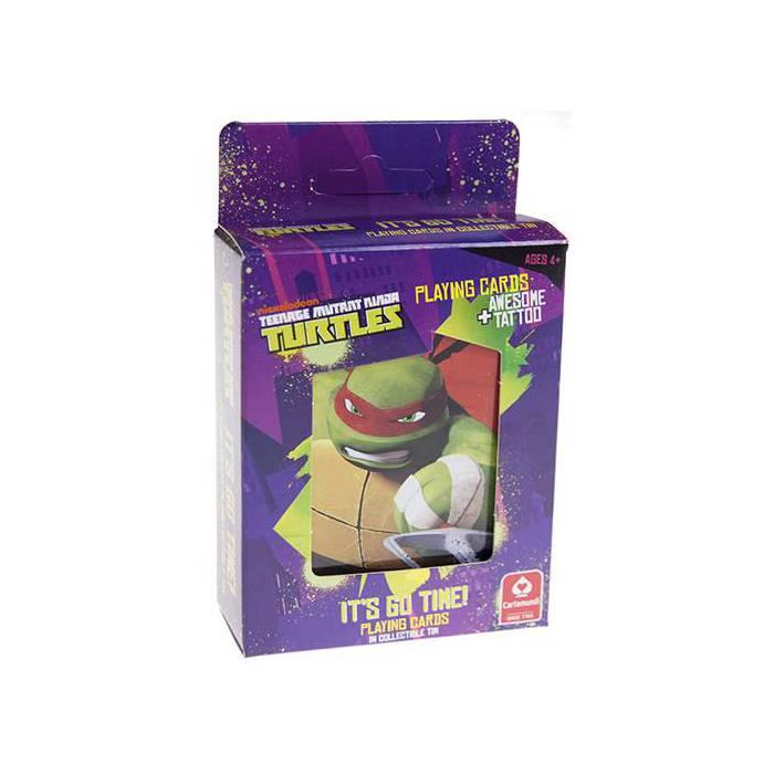 Boîte Collector Tortues Ninja Turtles - Jeu de 54 cartes