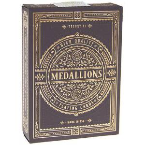 Medallions – Jeu de 54 cartes toilées plastifiées – format poker – 2 index standards– Theory 11