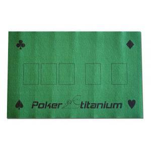 Tapis de Poker TITANIUM en feutre vert – 40x60 cm – avec emplacements pour le flop