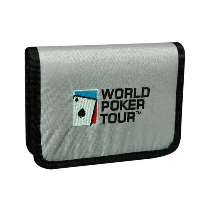 Pochette de rangement WPT pour 2 jeux de poker - 2 jeux de cartes WPT inclus