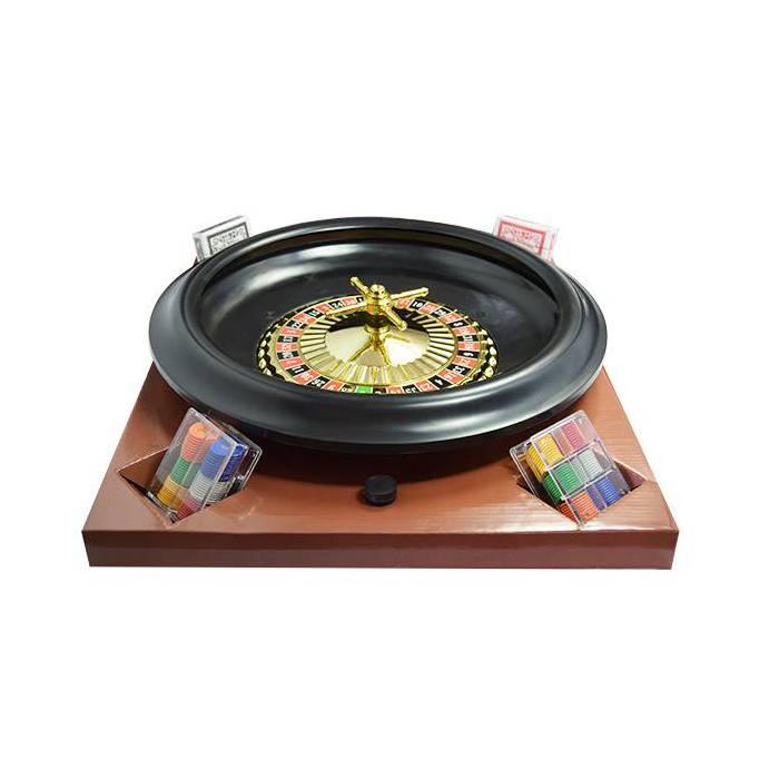Set pour Roulette 0 et 00 - diamètre 40 cm – avec tapis