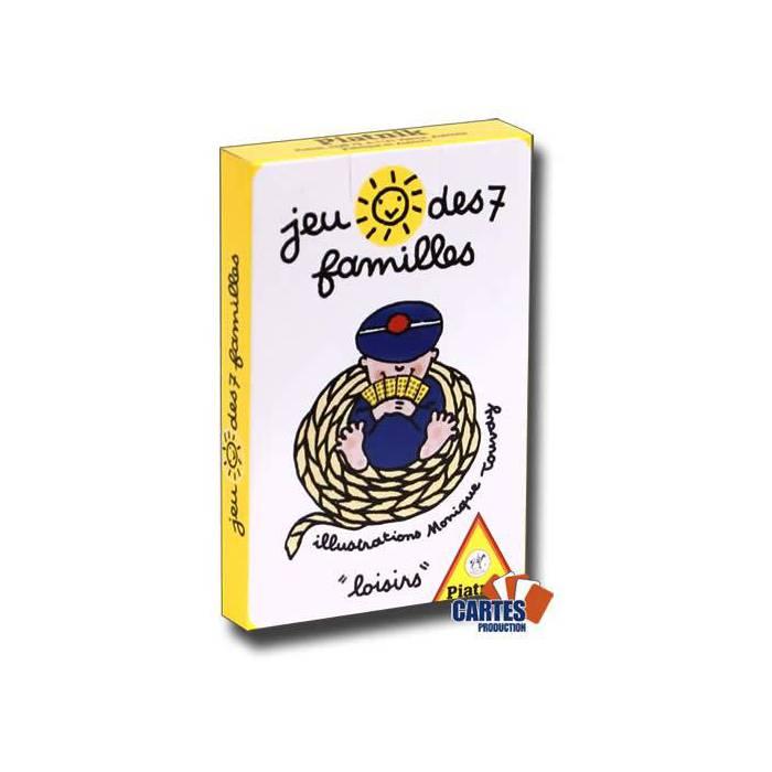 Jeu des 7 familles: Loisirs - jeu de 42 cartes cartonnées plastifiées - 7 familles de 6 cartes