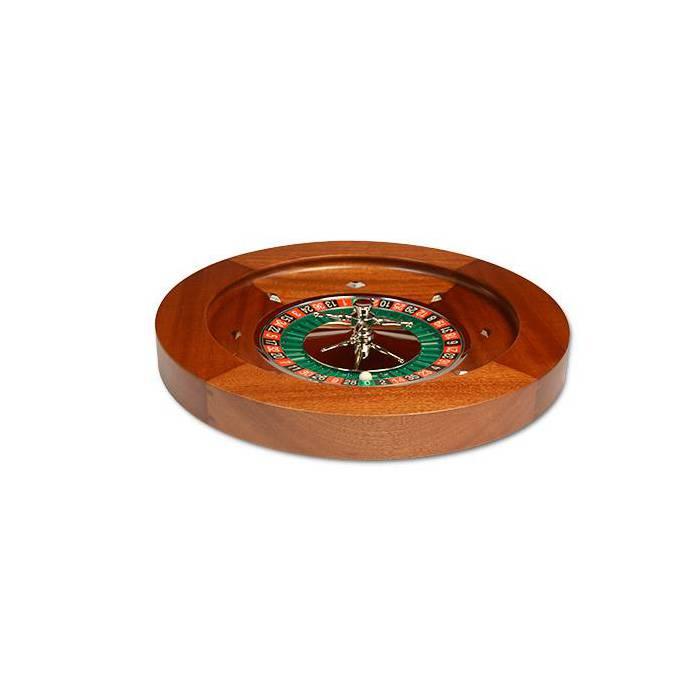 Roulette en acajou américaine Double 00  - 50 cm – centre en aluminium