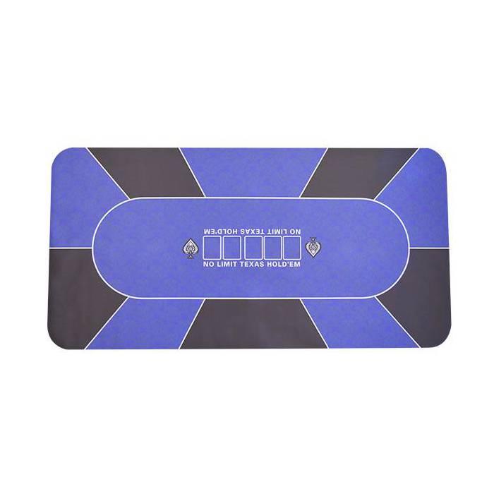 Tapis de poker rectangulaire en jersey néoprène NO LIMIT - 90/180 cm – 10 joueurs