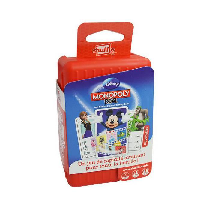 Shuffle Monopoly Deal Disney - Jeu de 110 cartes