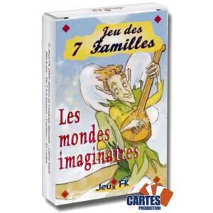 Jeu des 7 familles: Les mondes imaginaires - jeu de 42 cartes cartonnées plastifiées - 7 familles de 6 cartes
