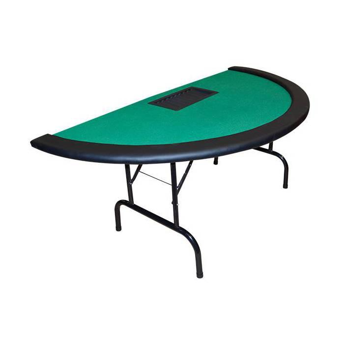 Table de poker NEVADA Black Jack unie pliante verte -  avec rack de rangement pour jeton
