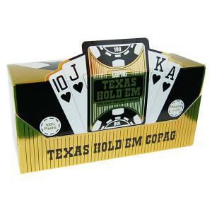 Cartouche COPAG Gold – 12 Jeux de 54 cartes 100% plastique – format poker – 2 index jumbo