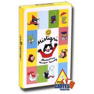 Mistigri Piatnik - Jeu de 31 cartes cartonnées plastifiées - 100 x 65 mm