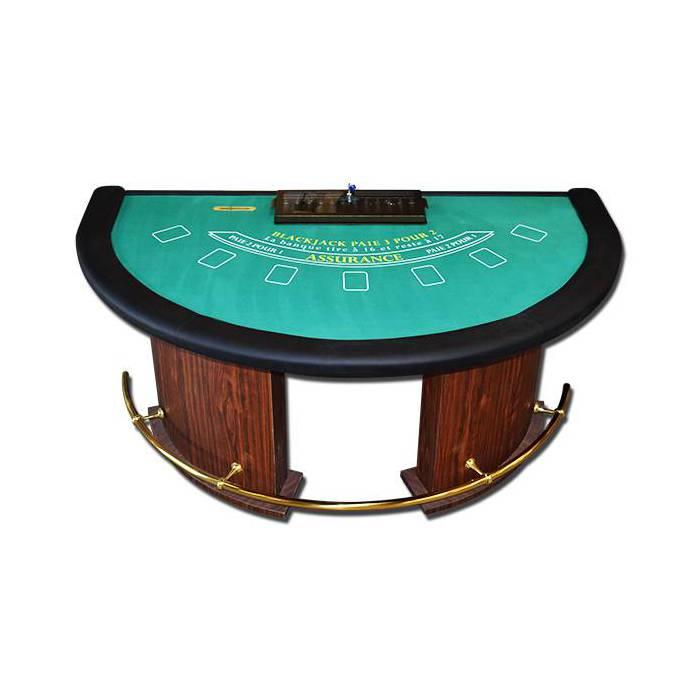 Table de Black Jack demi-Lune Luxe – rack sous clé – drop box