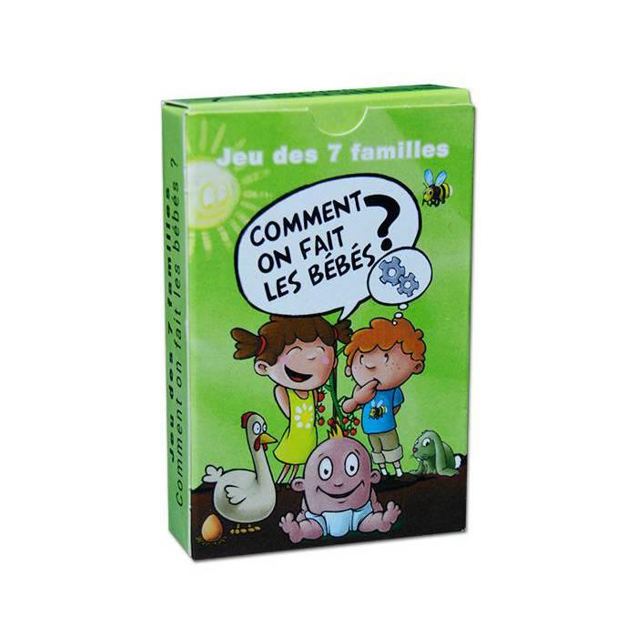 Jeu des 7 Familles Comment on fait les bébés - jeu 42 cartes
