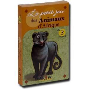 Jeu de Mémoire : Le petit jeu des Animaux d'Afrique - jeu de 32 cartes cartonnées plastifiées - 100 x 65