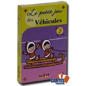 Le petit jeu des Véhicules - jeu de 32 cartes cartonnées plastifiées - convient aussi comme jeu de mariage ou mémo – 100 x 65