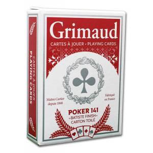 Grimaud Magie 1 Jeu Radio - Jeu de 54 cartes toilées plastifiées – format poker – 4 index standards