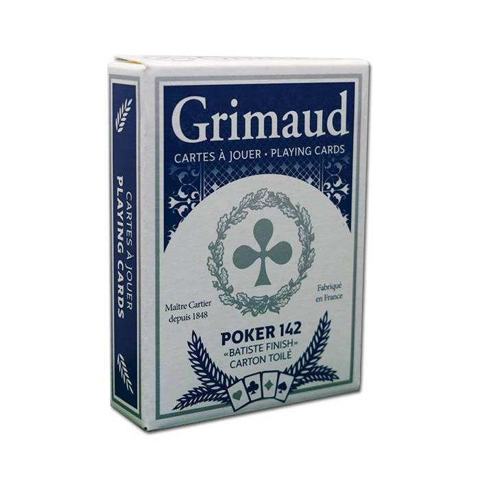 """Grimaud Magie 2 """"JEU MARQUÉ"""" - Jeu de 54 cartes toilées plastifiées – format poker – 4 index standards"""