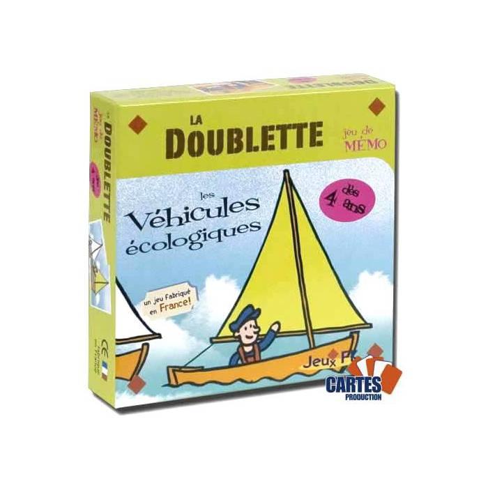 La Doublette Les Véhicules écologiques - jeu de 32 cartes cartonnées plastifiées - 58 x 58 mm