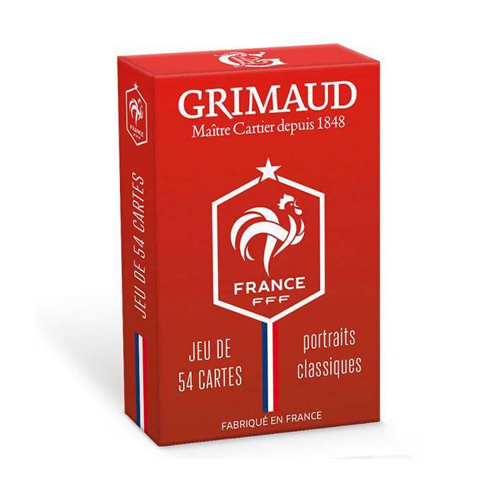 FFF – Cartes officielles de l'Equipe de France de Football – Version Classique – Grimaud – 54 cartes cartonnées plastifiées