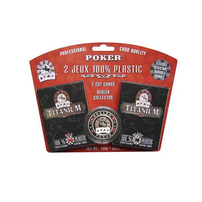 Duo pack Titanium Studson – 2 jeux de 54 cartes 100% plastique – format poker –  index spéciaux