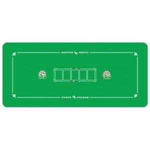 Tapis de poker STUDSON en feutrine et caoutchouc – 126x57cm -pour 6 à 8 joueurs – avec ligne de bet et emplacement pour le flop