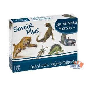 Jeu des 7 familles: Créatures Préhistoriques - jeu de 42 cartes cartonnées plastifiées - 7 familles de 6 cartes