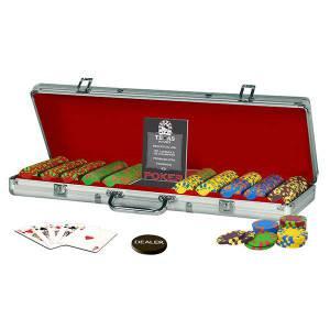 Mallette de 500 jetons de poker LUCKY STAR – en plastique ABS 11