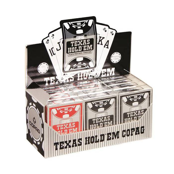 Cartouche COPAG Silver – 12 jeux de 54 cartes 100% plastique – format poker –  index spéciaux