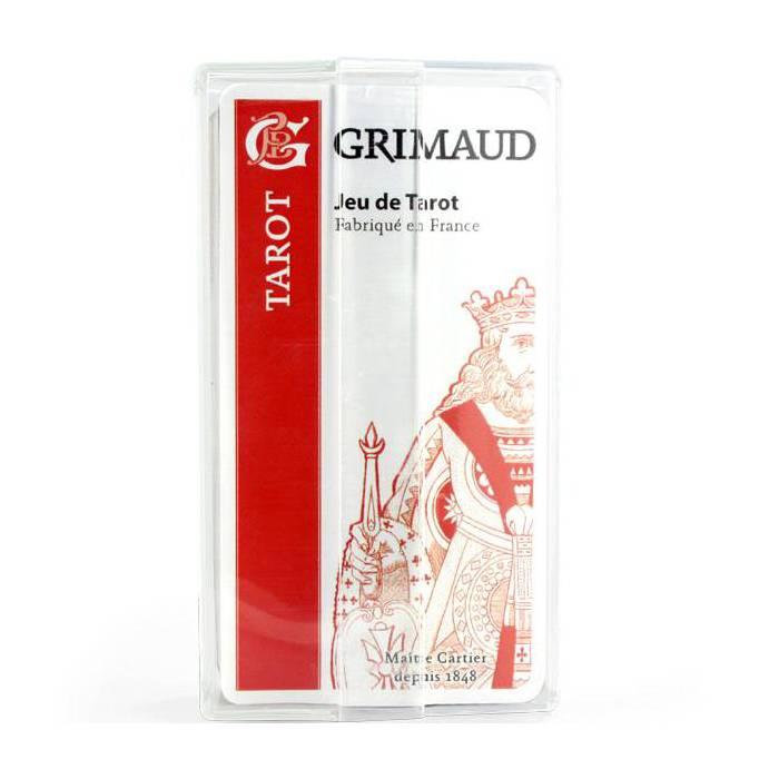 Grimaud Origine Tarot Spécial cercles en boîtier plastique – jeu de 78 cartes cartonnées plastifiées