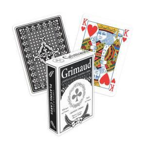 Poker 500 – Grimaud - Jeu de 54 cartes toilées plastifiées – format poker - 4 index standards