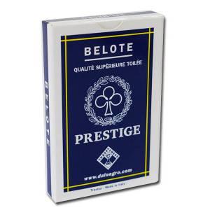 Dal Negro BELOTE PRESTIGE - Jeu de 32 cartes 100% plastique – 4 index standards – portraits français