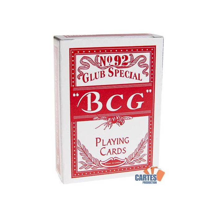 BCG N°92 – jeu de 54 cartes cartonnées – format poker – 2 index standards