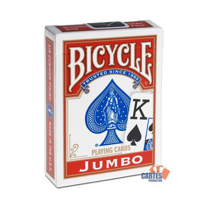 Bicycle Rider Back – jeu de 54 cartes toilées plastifiées – format poker – 2 Index jumbo