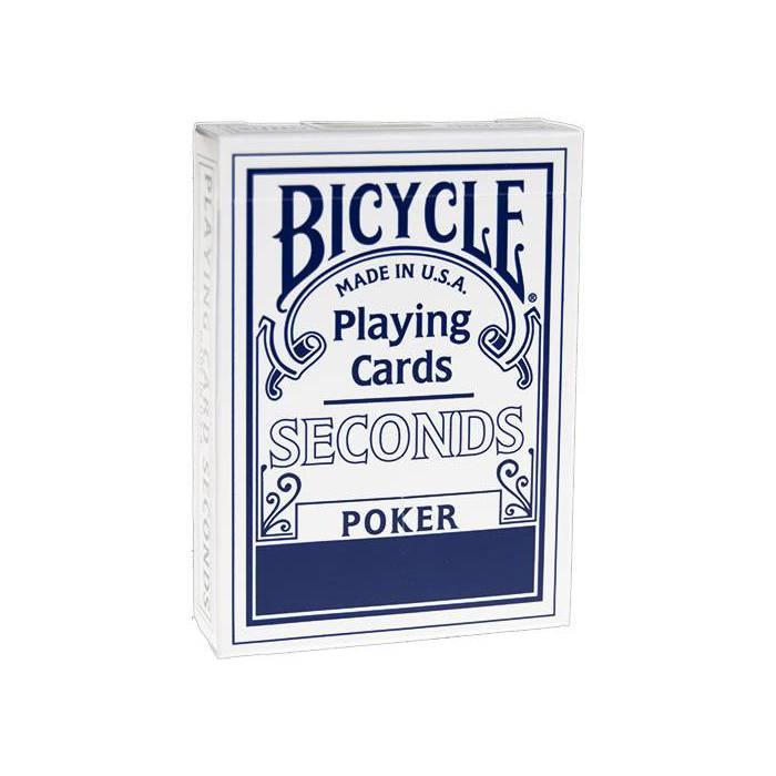 Bicycle Seconds – jeu de 54 cartes toilées plastifiées – format poker – 2 index standards