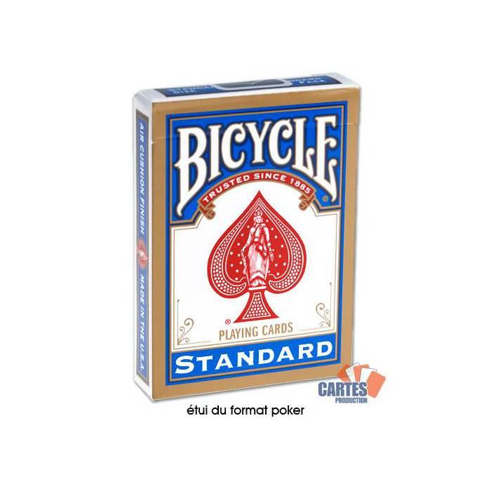 Bicycle Standard - Jeu de 54 cartes toilées plastifiées – format poker – 2 index standards