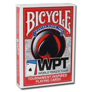 Bicycle WPT - jeu de 54 cartes toilées plastifiées – format poker – 2 index jumbo