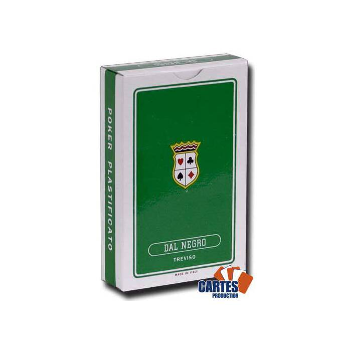 Dal Negro ST MARCO - Jeu de 54 cartes 100% plastique – format poker - 4 index standards