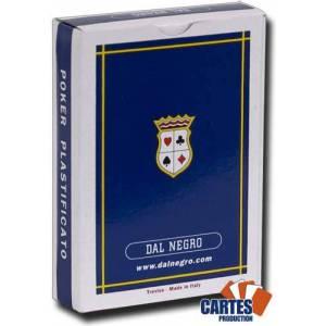 Dal Negro ST MORITZ - Jeu de 54 cartes toilées plastifiées – format poker - 4 index standards